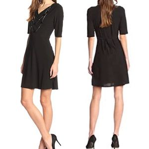 Star Vixen Black Wrap Dress